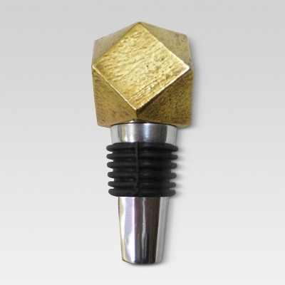 Bottle Stopper Aluminum/Gold - Threshold™