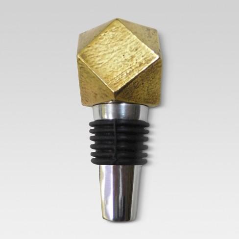 Bottle Stopper Aluminum/Gold - Threshold™ - image 1 of 1