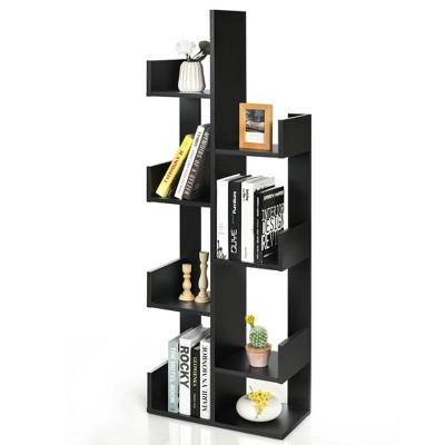 Costway 8-Shelf Bookcase Modern Tree Bookshelf Storage Decor Freestanding White/Black