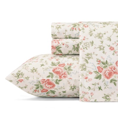 300 Thread Count Printed Cotton Sheet Set - Laura Ashley
