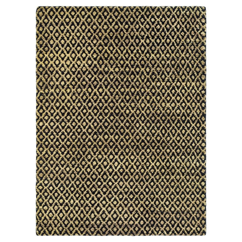 Black/Gold Geometric Tufted Area Rug 9'X12' - Safavieh