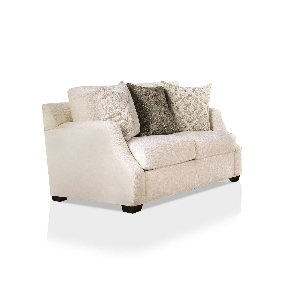 Quavo Upholstered Loveseat Ivory Homes Inside Out