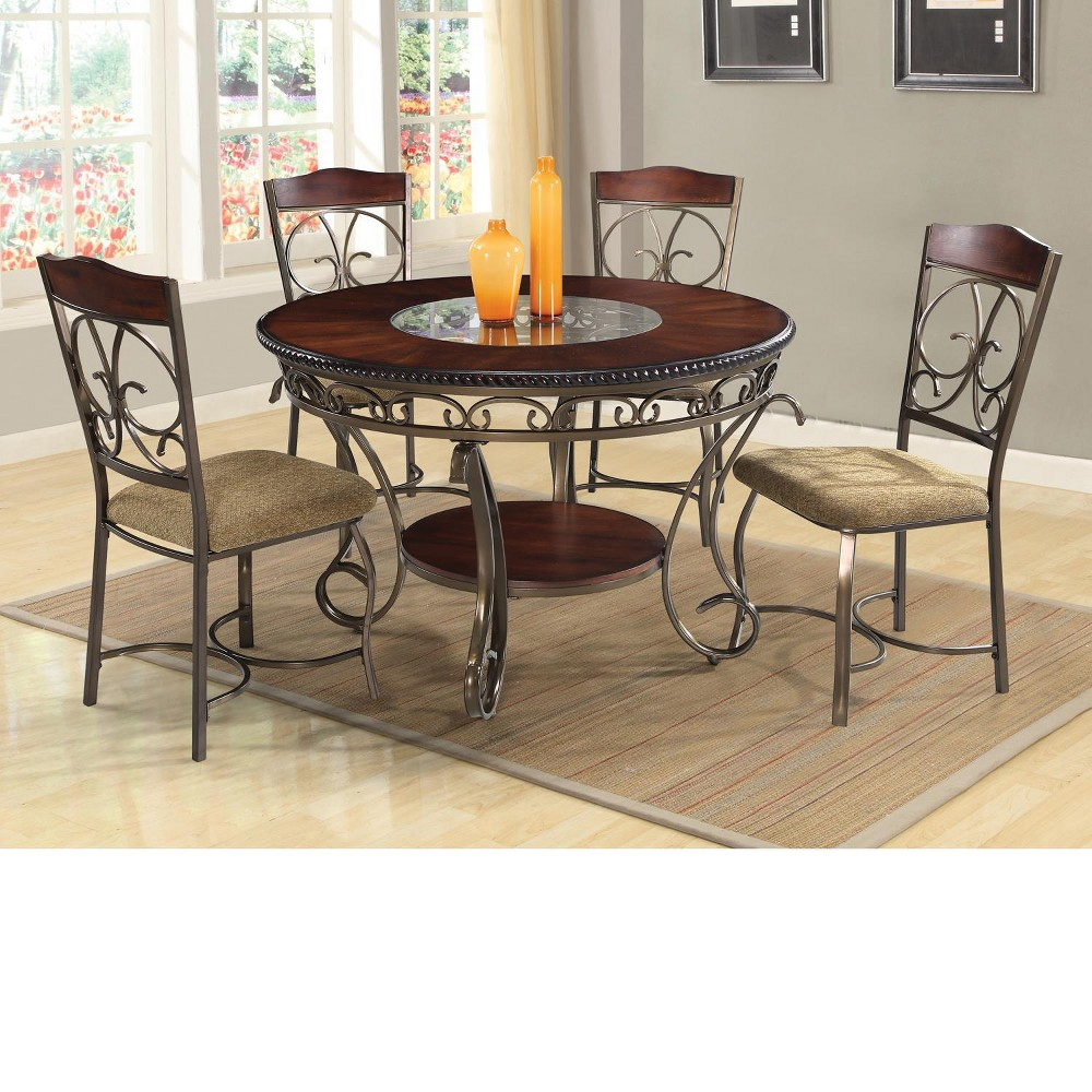 Dani 5pc Dining Set Brown - Home Source Industries