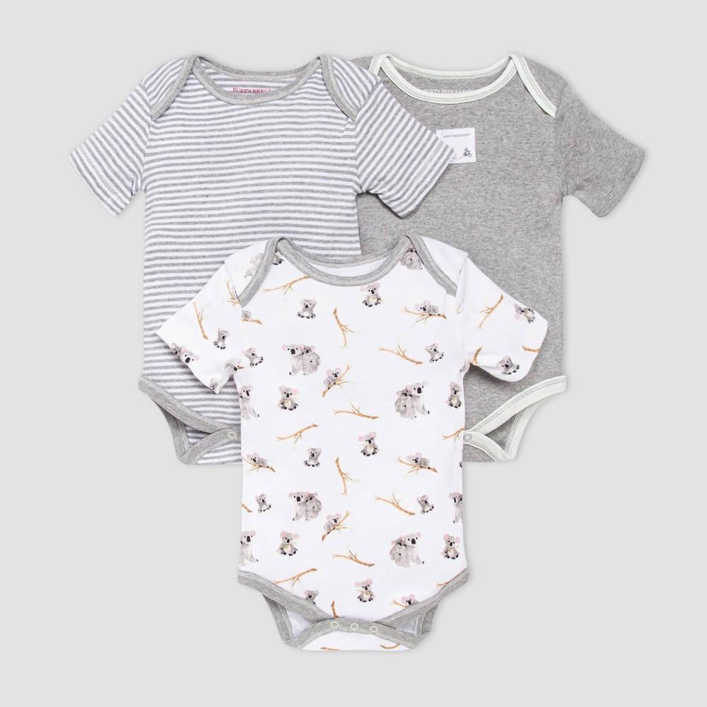 Burt 39 S Bees Baby 174 Baby Boys 39 3pk Koala Bodysuit Set Gray 18m
