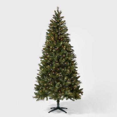 7.5ft Pre-lit Artificial Christmas Tree Douglas Fir Auto Connect Clear Lights - Wondershop™