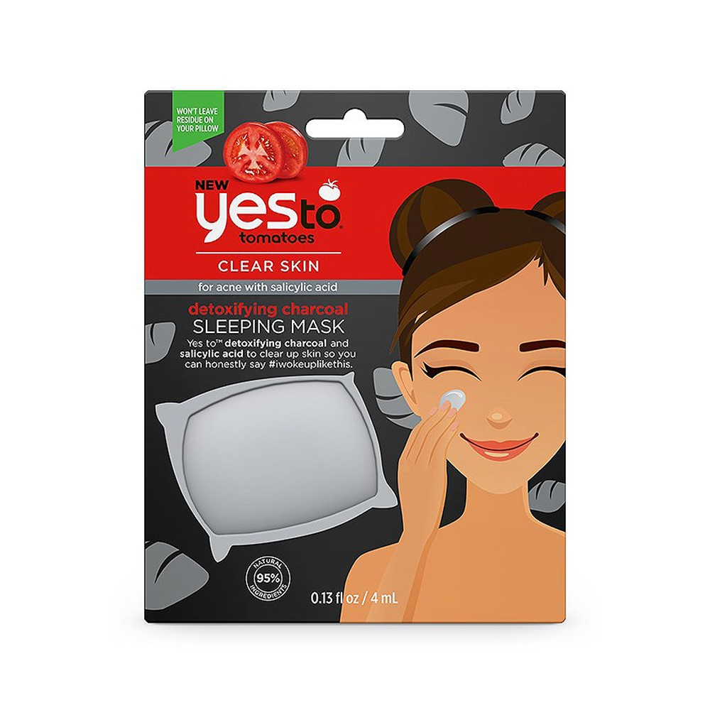 Yes To Tomatoes Charcoal Acne-Fighting Sleeping Mask - .13oz