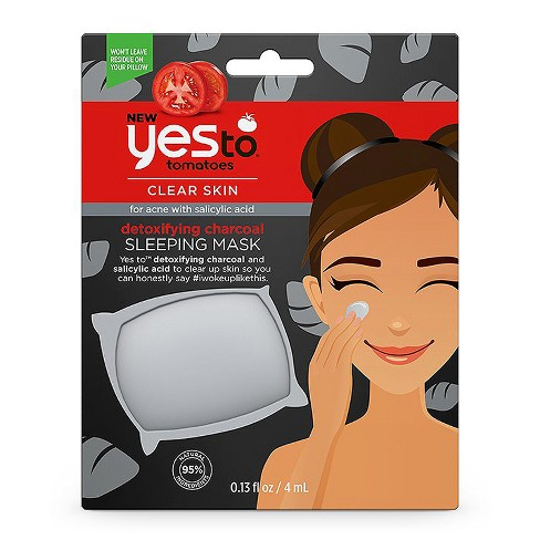 Yes To Tomatoes Charcoal Acne-Fighting Sleeping Mask - .13oz - image 1 of 2