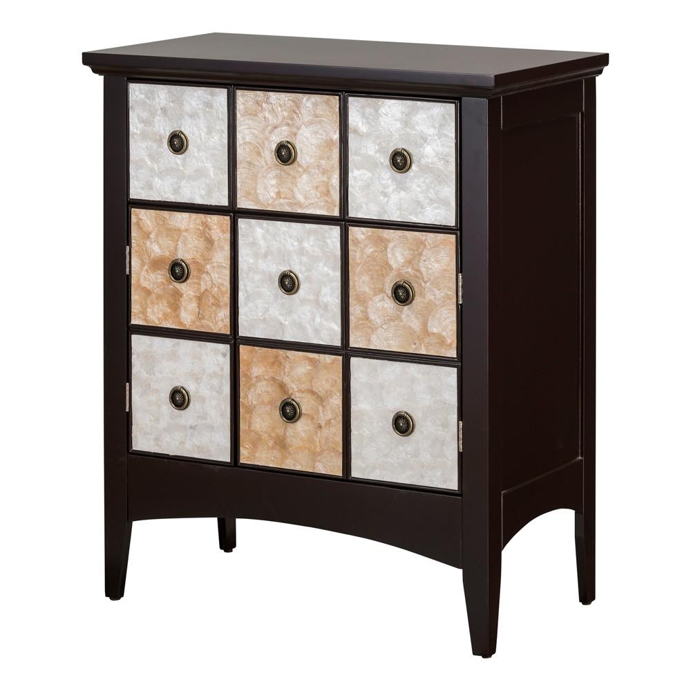 "Image of ""32"""" Durdle Accent Cabinet Espresso - Elegant Home Fashions"""