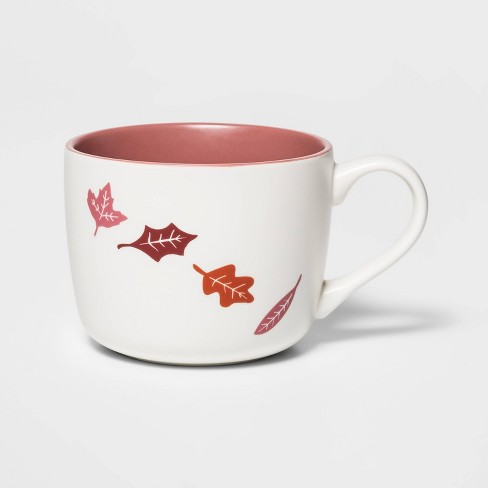 14oz Porcelain Leaf Print Cheyenne Mug - Threshold™ - image 1 of 1