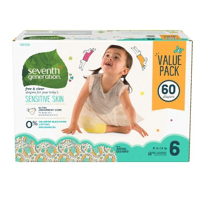 Seventh Generation™ Free & Clear Diapers Size 6 - 60ct