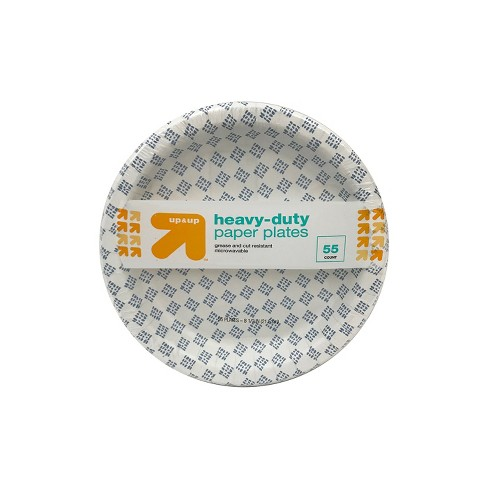 "Heavy Duty Disposable Paper Plates - 8.5"" - 55ct - Up&Up™ - image 1 of 4"