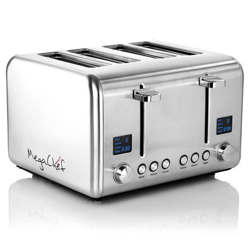 MegaChef 4 Slice Stainless Steel Toaster - Silver - image 1 of 4