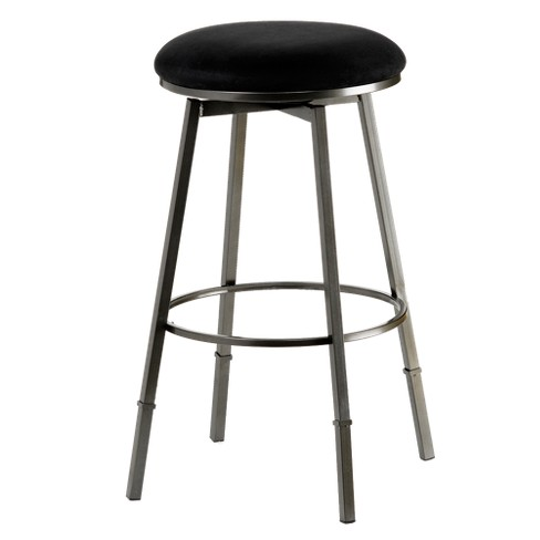 Sanders Backless Adjustable Counter Stool Metal/Black - Hillsdale Furniture - image 1 of 1