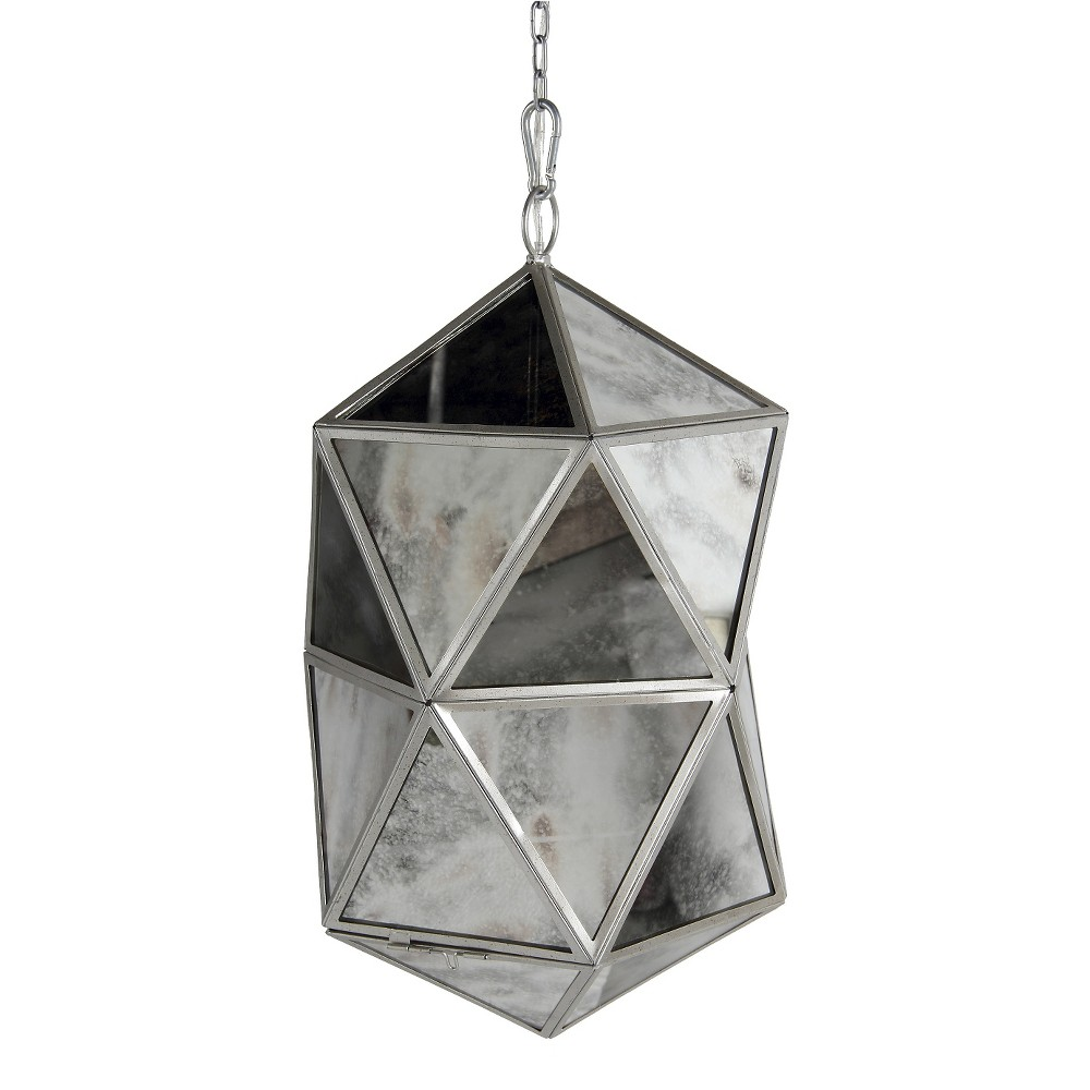 Image of A&b Home Glass Pendant Lamp - Silver, Clear