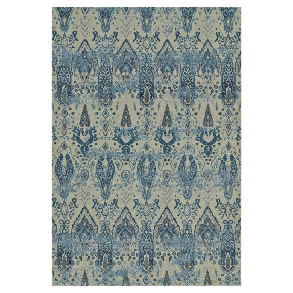 "Image of ""Linen Abstract Woven Area Rug - (5'3""""X7'7"""")"""