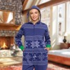 Silver Lilly - Holiday Fair Isle Slim Fit Women's Novelty Union Suit - image 2 of 4