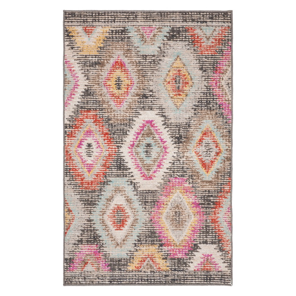 3X5 Geometric Design Loomed Accent Rug Gray - Safavieh Best
