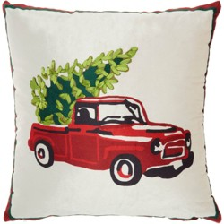 Chevy Tree Christmas Throw Pillow -Nourison
