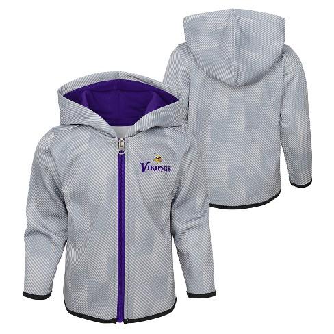 sale retailer 0de07 688b3 NFL Minnesota Vikings Toddler Cheer Loud Sublimated Full Zip Hoodie