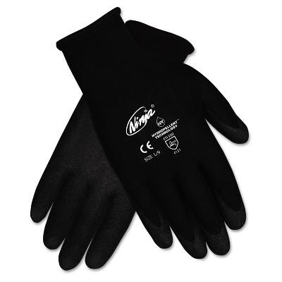 MCR Safety Ninja HPT PVC coated Nylon Gloves X-Large Black Pair N9699XLDZ