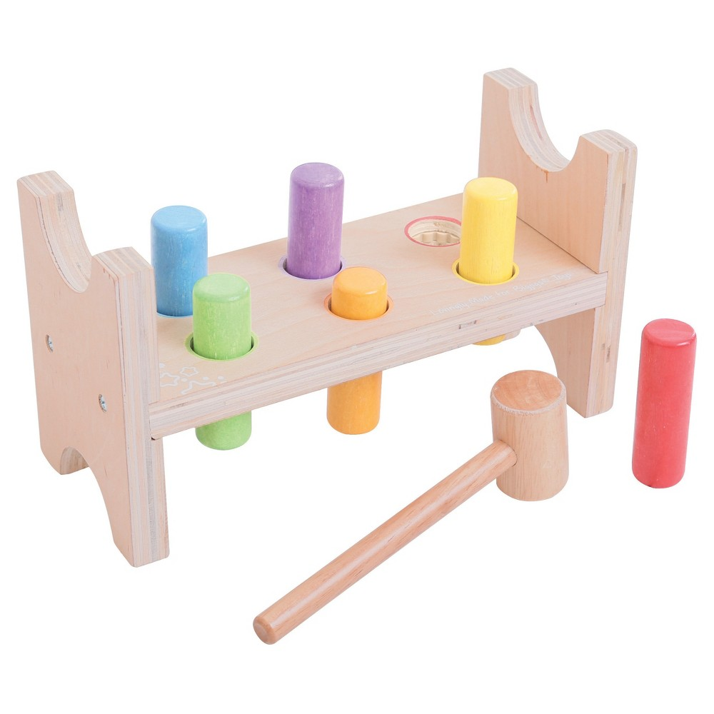 Bigjigs Toys First Hammer Bench Wooden Developmental Toy (8pc)