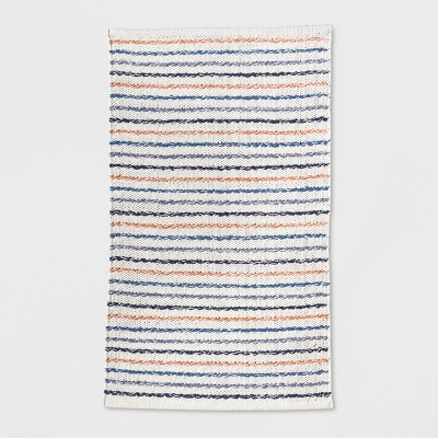 Stripe Kitchen Rug 1'8 X2'10  Blue And Coral - Threshold™