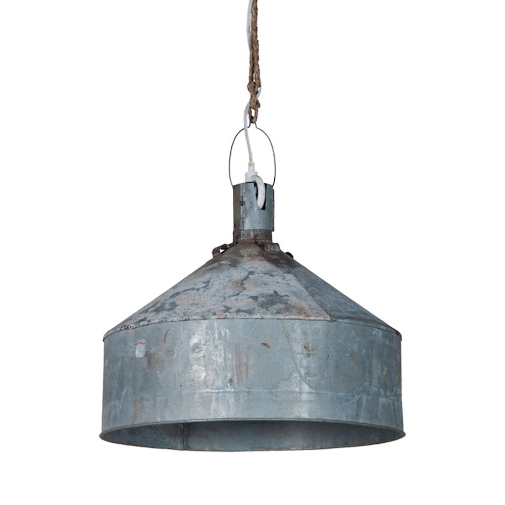 Image of Large Funnel Light Ceiling Light Gray - GuildMaster