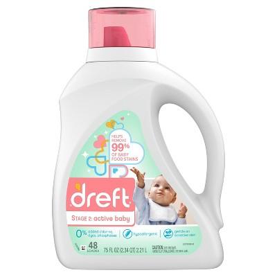 Dreft Active Baby Liquid Laundry Detergent - 75 fl oz
