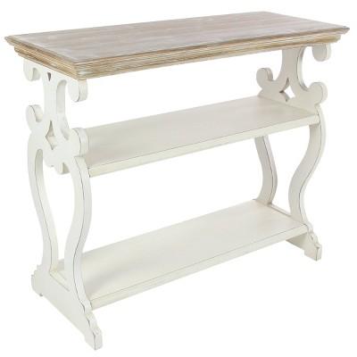 Farmhouse Wood Console Table White - Olivia & May