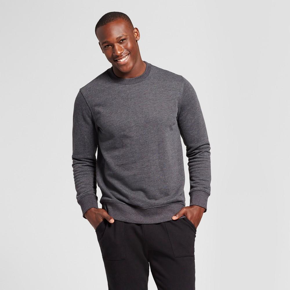 Men's Standard Fit Fleece Crew Neck Sweatshirt - Goodfellow & Co Charcoal (Grey) XL