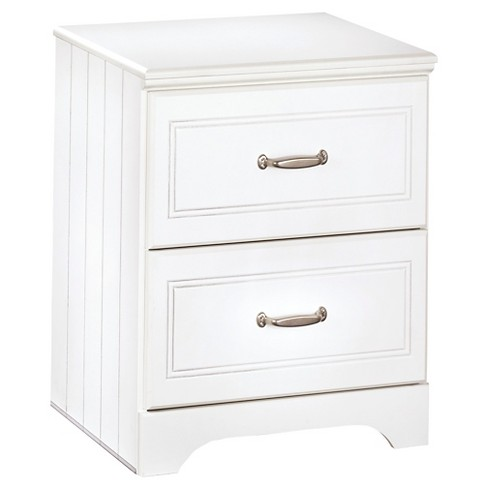 Lulu Two Drawer Nightstand White - Signature Design by Ashley - image 1 of 3
