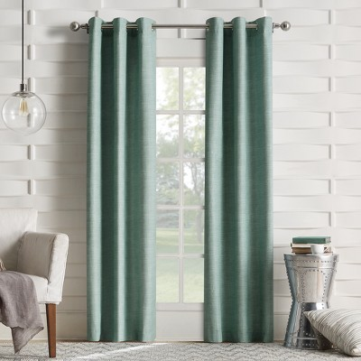 Haverhill Linen Texture Thermal Insulated Energy Efficient Grommet Curtain Panel Mineral 40 x63 - Sun Zero