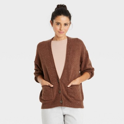 Women's Button-Front Grandpa Cardigan - Universal Thread™