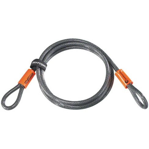 Kryptonite KryptoFlex Cable 1007 7 ' x 10 mm Thick Braided Steel Cable W/ Loops - image 1 of 1