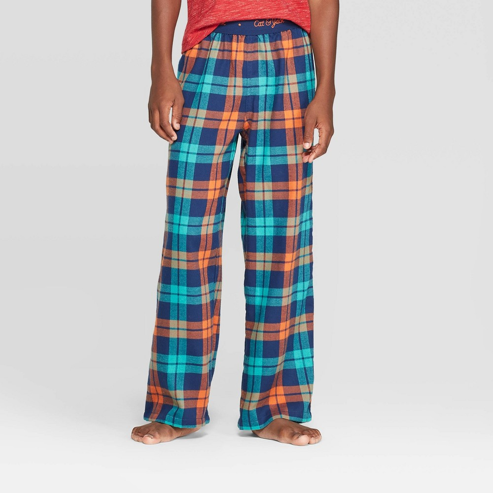 Image of Boys' Plaid Pajama Pants - Cat & Jack Blue L, Boy's, Size: Large