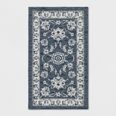 """1'8""""X2'10"""" Floral Tufted Accent Rug Blue - Threshold™"""
