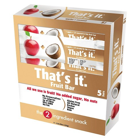 That's it.® Apple and Coconut Ntrition Bar - 6oz - 5ct - image 1 of 2