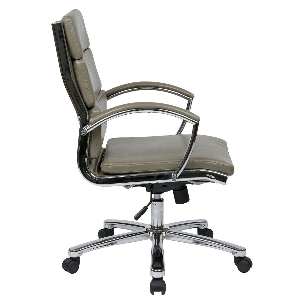 Image of Mid Back Executive Faux Leather - Gray