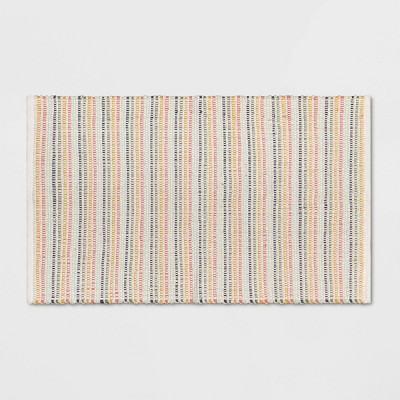 """27""""x45"""" Striped Ribbed Accent Rug - Pillowfort™"""
