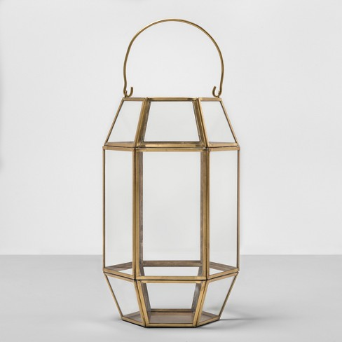 Hexagon Outdoor Lantern Gold Frame - Opalhouse™ - image 1 of 4
