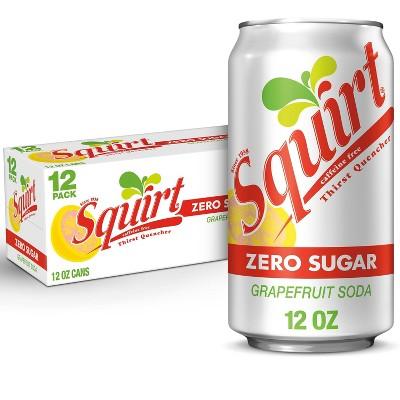 Squirt Zero Sugar Grapefruit Soda - 12pk/12 fl oz Cans