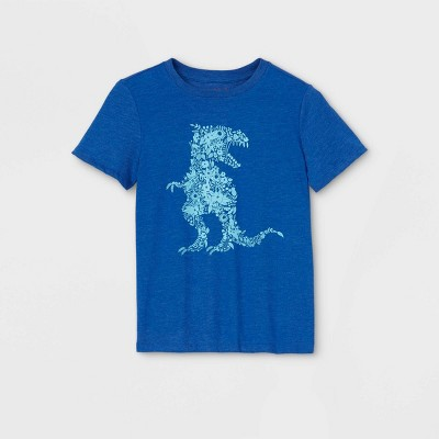 Boys' Short Sleeve Floral T-Rex Graphic T-Shirt - Cat & Jack™ Blue