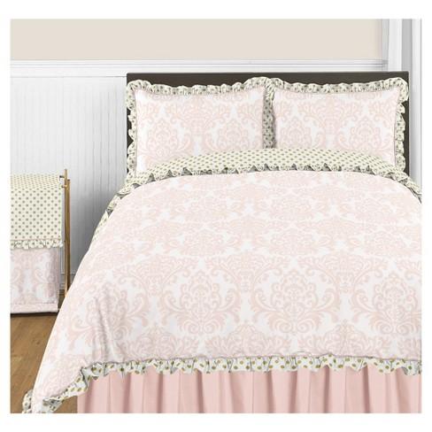 . Pink   Gold Amelia Comforter Set  Full Queen    Sweet Jojo Designs