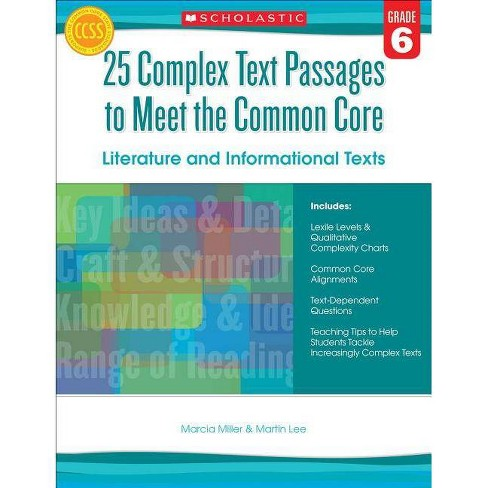 25 Complex Text Passages to Meet the Common Core: Literature and Informational Texts, Grade 6 - image 1 of 1
