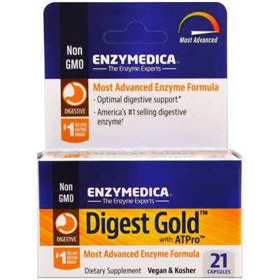 Enzymedica Digest Gold with ATPro, Capsules, Dietary Supplements