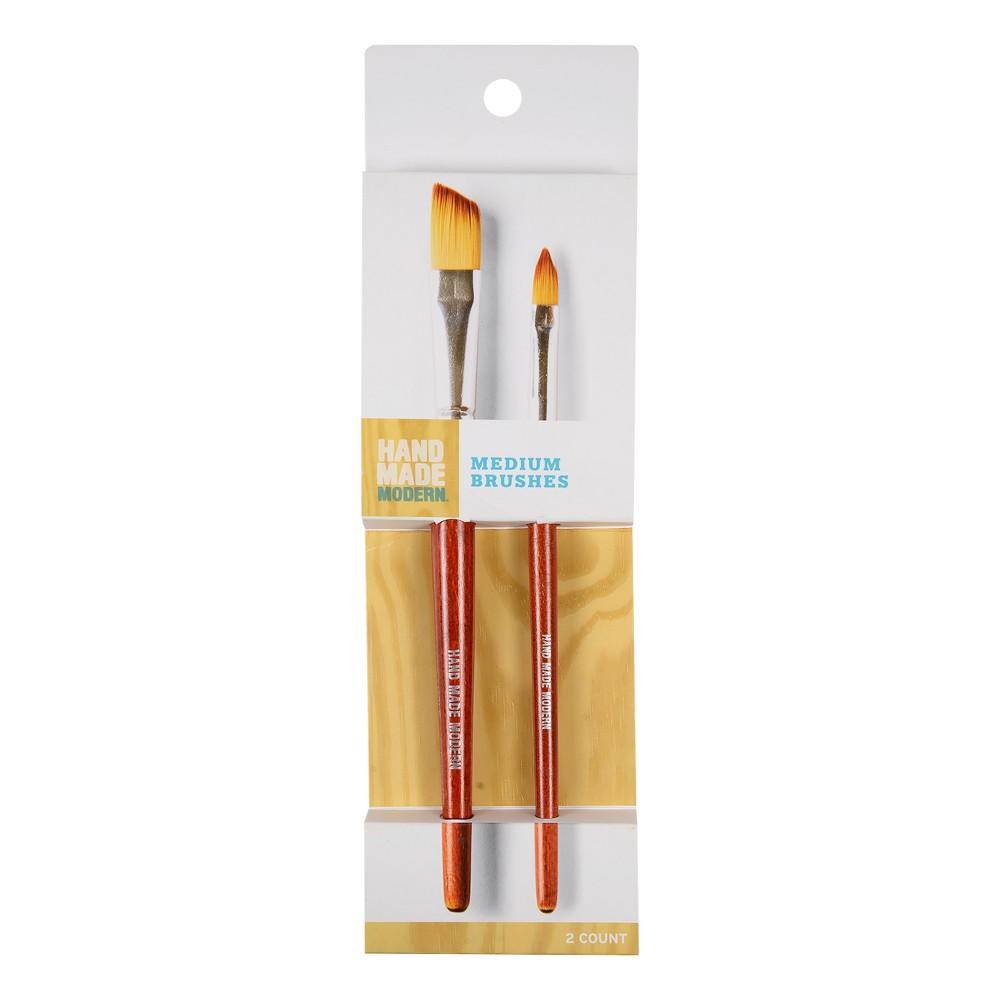 2ct Medium Paint Brushes - Hand Made Modern