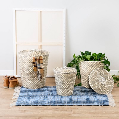 Honey-Can-Do 3pc Tall Basket Set with Lids