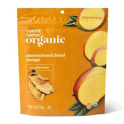 Organic Dried Unsweetened Mango Snacks - 4oz - Good & Gather™