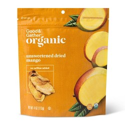 Organic Dried Unsweetened Mango Snacks - 4oz - Good & Gather™