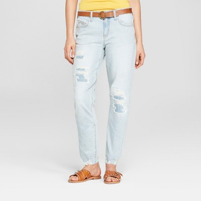 17749cb3a7 Womens Mid-Rise Boyfriend Jeans – Universal Thread™ Light Wash 2 ...